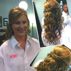 #wedding #hair #half up #curls #hairdo that's me! So awesome to have a picture of myself on Pinterest!