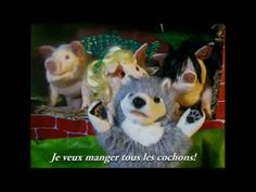 Les Trois Petits Cochons The three little pigs in French to the tune of Pokerface by Lady Gaga Pig In French, Learn French, French Songs, French Films, French Teacher, Teaching French, Farm Unit, Pokerface, French Education