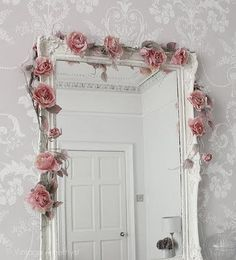 mirrors and roses and wallpaper....