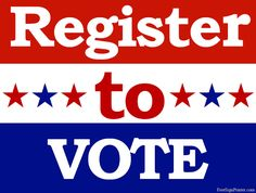 Printable Register to Vote Sign