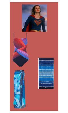 """Swimsuit: Supergirl/ Kara Danvers/ Kara Zor-El"" by hayzkidrocky ❤ liked on Polyvore featuring Gottex and PBteen"