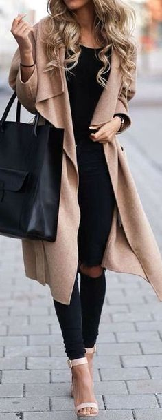 Camel & Black - nude pumps or booties for winter. Maybe sandals can fly in CA or FL for cooler temps...