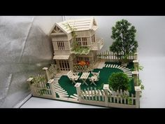 Building Popsicle Stick Mansion - Popsicle Garden Villa - Dreamhouse - YouTube