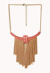 Forever 21 Boho Babe Fringe Bib Necklace $12