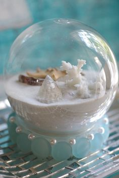 Beach Decor Beach Christmas Sand Snow Globe~ ByTheSeashoreDecor, via Etsy.