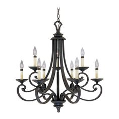 Designers Fountain Lighting Chandelier in Natural Iron Finish | 9039-NI | Destination Lighting