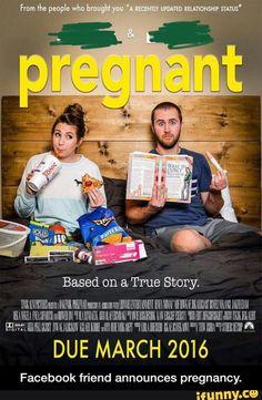 Facebook friend announces pregnancy.