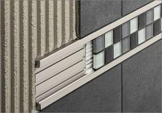 Listello tile trim in aluminum (decorative) Schlüter®-QUADEC-FS Schluter-Systems