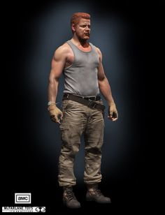 Abraham for Mcfarlane Toys, Steve Lord 3d Character, Character Design, Zbrush Hair, Apocalypse Character, Rick And Michonne, Abraham Ford, Zombie Hunter, Poses References, Quites