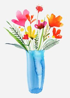 Margaret Berg Art: Tulips+in+a+Vase