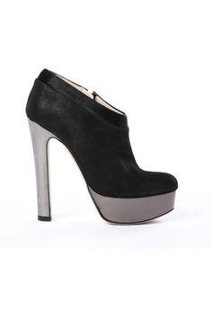 Ankle boots - Liv - Black fur & leather - 126£
