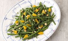 Green beans orange and hazelnut