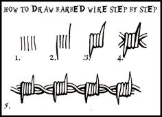 Barbed wire drawing | Eyes | Pinterest | Wire drawing, Tattoo and ...