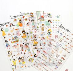 6 pcs/pack Sweet Girls Transparent Decorative Sticker Set Diary Album Label Sticker DIY Scrapbooking Stationery Stickers Escolar