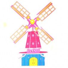 Small the 3D jigsaw puzzles - Dutch windmill