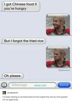 Hilarious Text About Hungry Man vs. Chinese Food