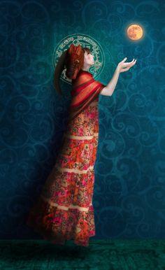Astrologer, x digital photography Mariana Palova Michael Hussar, Daria Petrilli, Eugenia Loli, Visionary Art, Moon Child, Digital Photography, Business Women, Tie Dye Skirt, Astrology