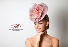 Rose Pink Designers Fascinator, Melbourne cup hat, Milliner Royal Ascot hat, Wedding quest hat, tea party hat, couture derby fascinator by FeltSilkArtGift on Etsy
