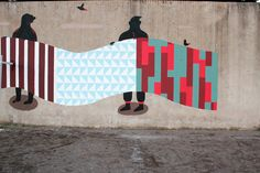Murals made forRebibbia on the Wallproject