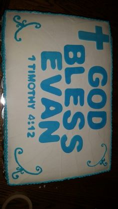 Boy confirmation cake