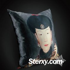 Featuring the Empress in Qing Dynasty dressed up in an ellaborate court robe with a mobile phone in hand, this cusion cover injects modern elements into tradition to create innovation and fashion-plus-art balance. The detailed distinctive images will make your living room update fanstatically. #home #cushion #cushioncover #Chinesestyle #art #design #furnishing Living Room Update, Cushions, Pillows, Cushion Fabric, Qing Dynasty, Chinese Style, Online Shopping Stores, Traditional Design, Cushion Covers