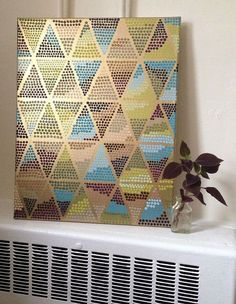 diy pointillism painted triangles (Erin on the Run)