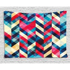Chevron Area Rug by Ambesonne, Zigzag Pattern Downward Parallel Lines Hipster Bohemian Style Grunge Illustration, Flat Woven Accent Rug for Living Room Bedroom Dining Room, 4 x 6 FT, Multicolor Living Room Bedroom, Rugs In Living Room, Chevron Area Rugs, Zig Zag Pattern, Small Dining, Accent Rugs, Dorm Decorations, Hipster Bedrooms, Bohemian Bedrooms