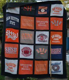 Sam Houston State University Tshirt quilt by PreservingMyMemories, $269.36