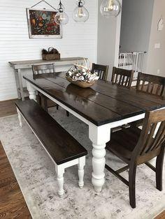 Nice 54 Modern Farmhouse Dining Room Decor Ideas. More at https://trendecorist.com/2018/03/02/54-modern-farmhouse-dining-room-decor-ideas/