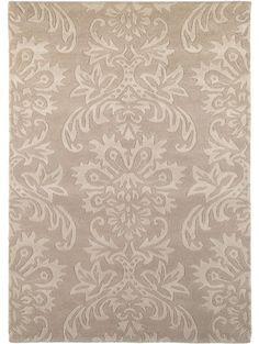 Wollteppich Flowery Beige 120x170 cm