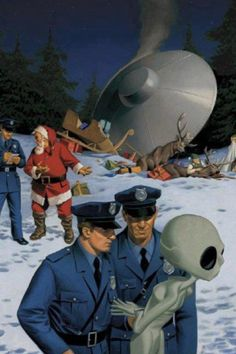 UFO crashes into Santa, Alien caught without drivers license or proof of insurance...