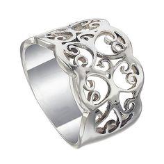 Filigree Band Sterling Silver Women Ring