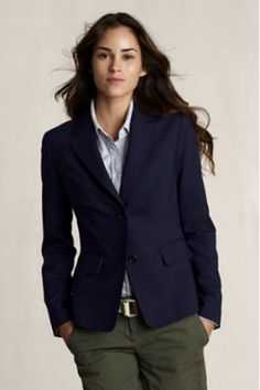 Canvas' Navy Blazer. I'd put on gold buttons, but love it.