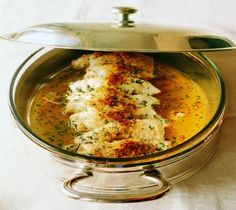 Breast of Chicken in a light lemon herb sauce, or Involtini Di Pollo All Salmoriglio