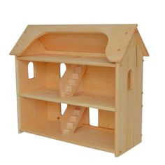 """A traditionally styled dollhouse with three floors of fun. Seri's Dollhouse is a beautiful dollhouse lovingly Handcrafted in Maine. Dimensions - 27"""" tall, 30"""" wide and 12"""" deep. Each level is 8"""" floor"""