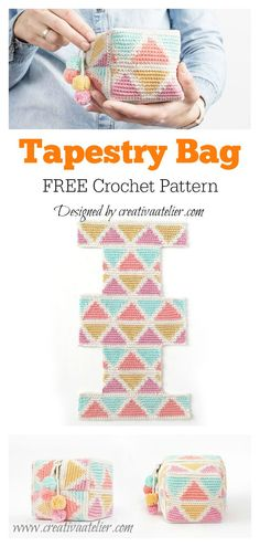 Most recent Totally Free tapestry Crochet Bag Style Tapestry Cosmetic Bag Free Crochet Pattern Crochet Belt, Crochet Pouch, Crochet Purses, Crochet Gifts, Free Crochet, Tapestry Crochet Patterns, Knitting Patterns, Bag Patterns, Modern Crochet Patterns