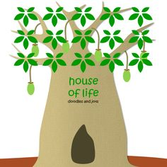 Could you live in a house life this?  Check out my illustrated post for kids about the Baobab tree!
