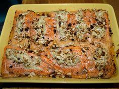 Kirjolohitaskut uunissa - Kotikokki.net - reseptit Meatloaf, Lasagna, Quiche, Food And Drink, Fish, Breakfast, Ethnic Recipes, Morning Coffee, Pisces