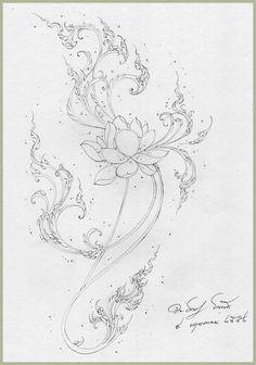 : Fun Learning traditional Thai Designs with JitdraThanee the Tutor Basic Sketching, Thai Design, Lotus Art, Art Village, Colored Pencil Techniques, Tibetan Art, Thai Art, Art Drawings, Colorful Drawings