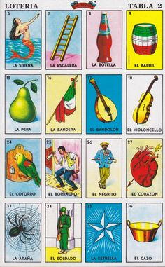 image relating to Printable Loteria Mexicana referred to as The unique Loteria playing cards, Put on Clemente DesignVault