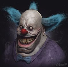 ArtStation - Krust the Clown, Wil Hughes