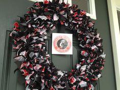 Fabric Cincinnati Bearcats Wreath NCAA 20 by TheCreativeTeacher, $45.00
