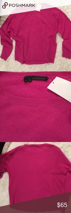 100% cashmere loose style sweater brand new Adorable very soft pink sweater loose style with a dropped sleeves 360cashmere Sweaters Crew & Scoop Necks