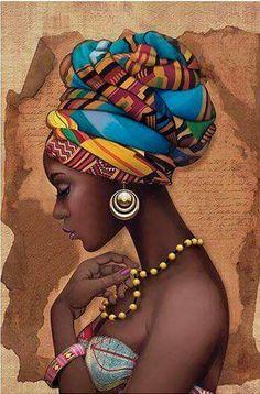 African Art Decor Cross Stitch Pattern - African Art Print - African Decor - Black Women - Embroidery - African Wall Art - PDF File - My Pin African Girl, African American Art, African Women, Black Girl Art, Black Women Art, Art Girl, Art Women, African Wall Art, African Art Paintings