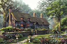 The Old Cottage Digital Art by Dominic Davison