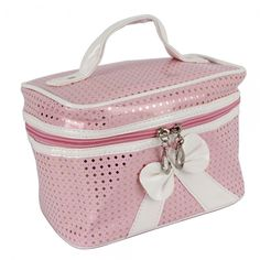 'Pink and Gold Makeup Bag with Bow' is going up for auction at  1pm Thu, Nov 29 with a starting bid of $8.