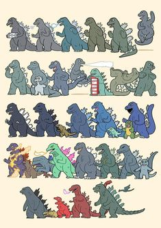 Tagged with godzilla, films, gojira, king of the monsters, franchise; The Many Faces/Shapes of Godzilla All Godzilla Monsters, Godzilla Comics, Godzilla Franchise, Godzilla Godzilla, Costume Godzilla, Godzilla Tattoo, Godzilla Wallpaper, Godzilla Birthday, Cartoon Meme
