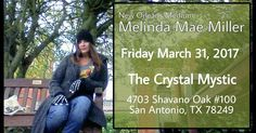 I'll be at @thecrystalmystictx in #SanAntonio #Texas on #March 31 for another evening of messages with spirit.  I'm looking forward to seeing familiar faces and meeting new ones!! IM A MEDIUM WITH A MISSION.  The purpose of mediumship is to channel LOVE from their world to ours. Its my mission and purpose. Its the reason I exist.  The world needs MORE LOVE to heal.  The world needs MORE LOVE to purge.  The world needs MORE LOVE to smile.  The world needs MORE LOVE.  So I'm bring the love…