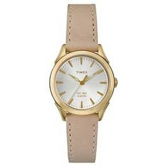 Women's Timex Watch with Leather Strap - Gold/Tan TW2P82000JT : Target