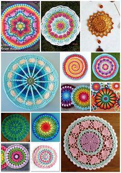 Mandalas a crochet @geraldinekeeyss https://www.facebook.com/Geraldinekeeyss-840801652636770/?fref=nf  #yoga #mandalas